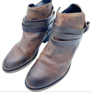 H by Hudson Horrigan Brown Leather Ankle Booties